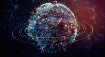 digital ecosystem representing global data