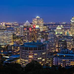 Cityscape of Montreal, a hub for cybersecurity