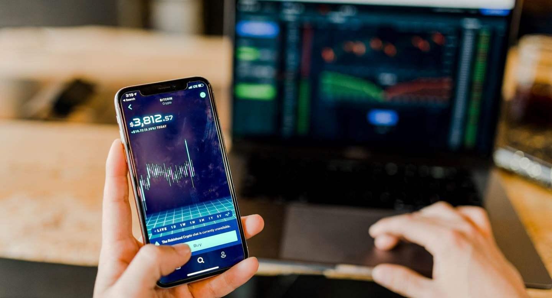 Fintech Finance on a phone