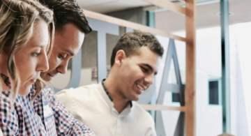 Entrepreneurs in meeting on shared economy