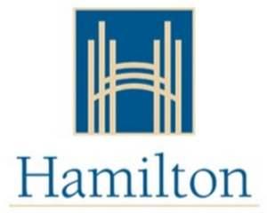 City of hamilton logo in the centre