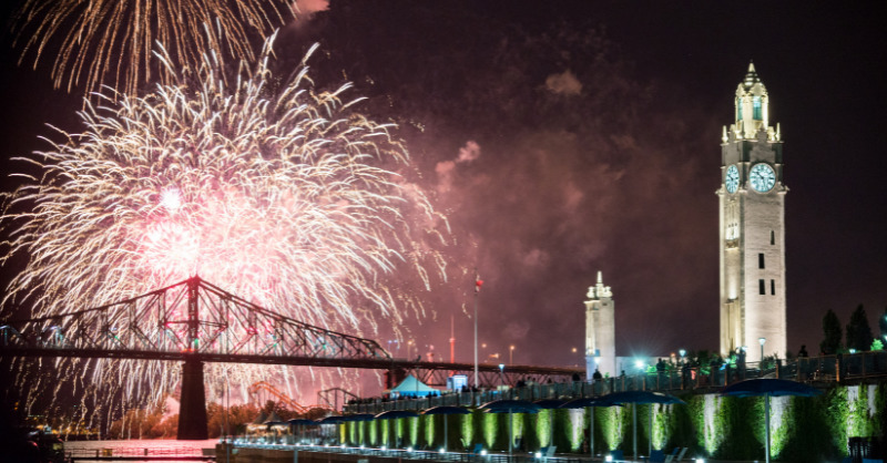 Firework in the Montreal